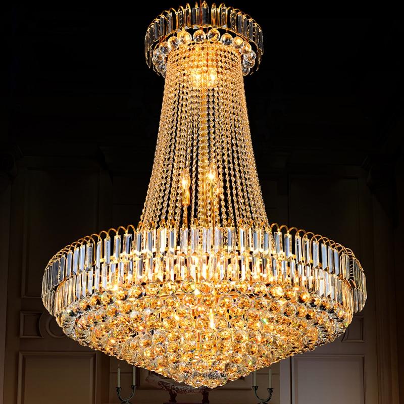 Zlatni kristalni luster Moderni kristalni lusteri Svjetla - Unutarnja rasvjeta - Foto 1