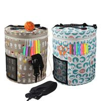DIY Knitting Bag Portable Light Yarn Storage Bags Have Pockets For Crochet Hooks Tote Organizer Yarn Bowl Quick Delivery