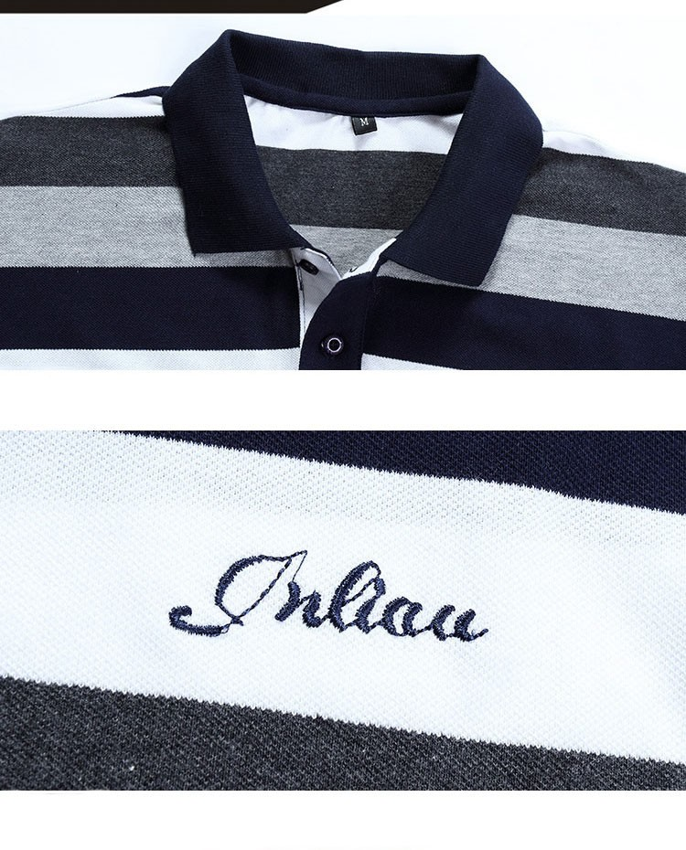Polo shirt men Letter Embroidered Strip Polo Shirt 2016 Summer brand Turn-down Collar Casual Cotton Polo Shirt  Plus Size M-5XL (3)