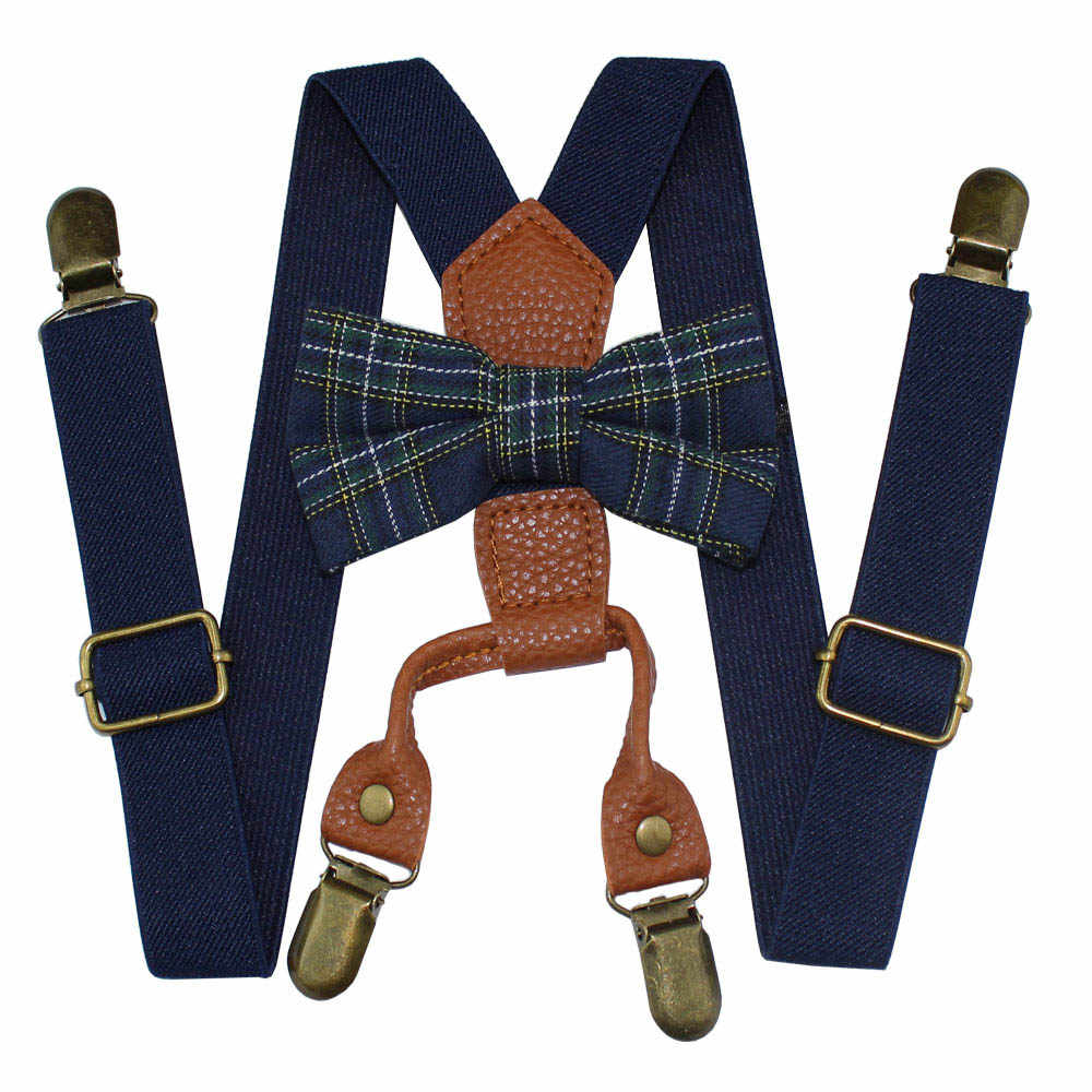 c2b88557e95 ... AEbone Baby Boys Suspenders and Bow Ties 4 Clip Bowtie Braces for  Children Girls Pink Navy ...