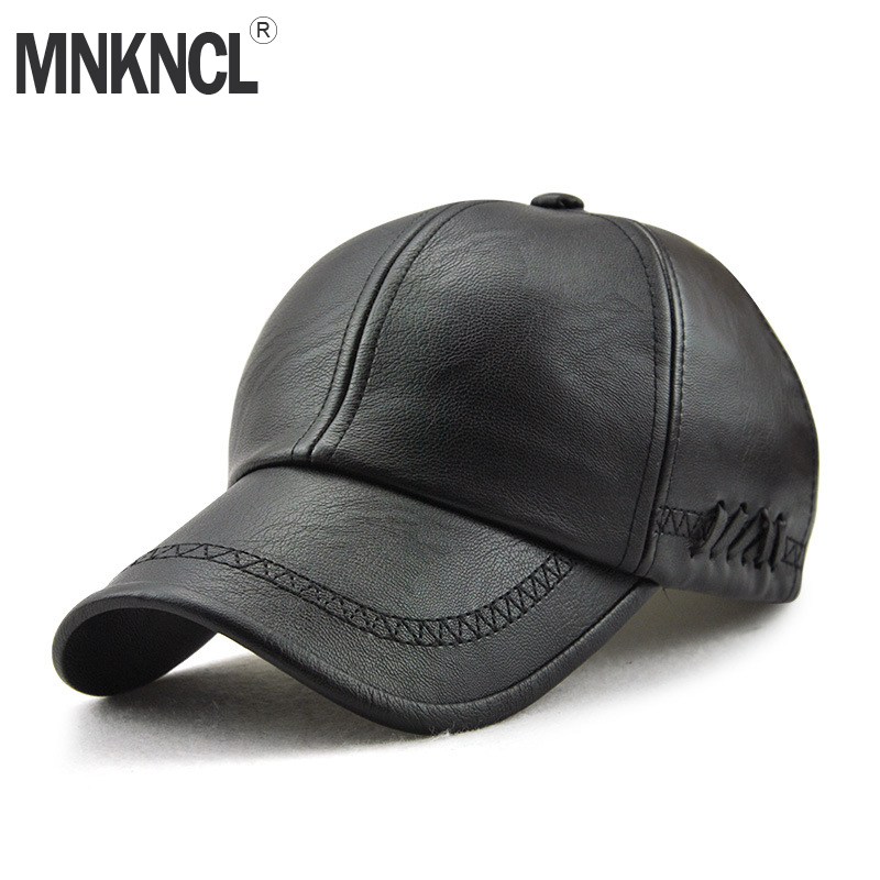 2018 New Fashion High Quality Leather Baseball Cap For Men Casual Moto Snapback Hat Men Women Hat Cap Wholesale new cotton fashion baseball cap high quality hat cap for women casual raised on the streets of new york letters snapback