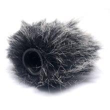 Mcoplus микрофон лобовое стекло пушистый мех муфта ветра чехол для экрана для камера с микрофоном ro микрофон камера с микрофоном Me Mic