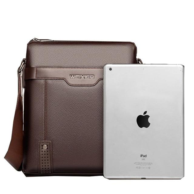 Fashion Shoulder Bag Men's Messenger Bags PU Leather Briefcase Famous Brand Men Crossbody Bag Male High Quality Shoulder Bag 4