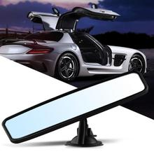 Car Rear View Mirror Universal Wide Angle Rear View Mirror Auto Reverse Back Parking Reference Rear Mirror Adjustable SuctionCup