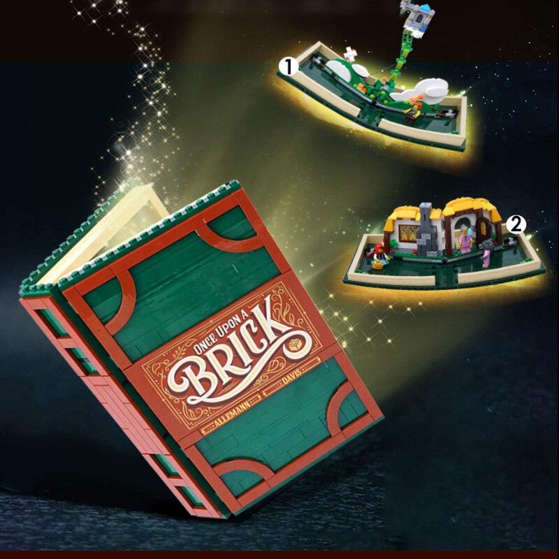Nouvelle idée série Pop-up livre fit legoings compatible 21315 ville filles modèle magasin blocs de construction briques livre éducatif bricolage jouet