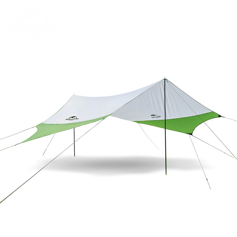 Hexagonal Sun-shading Rainproof Awning Outdoor Sunshade Camping Shade-Shed Marquee Sun Shelter UPF40+ For Fishing Climbing L M