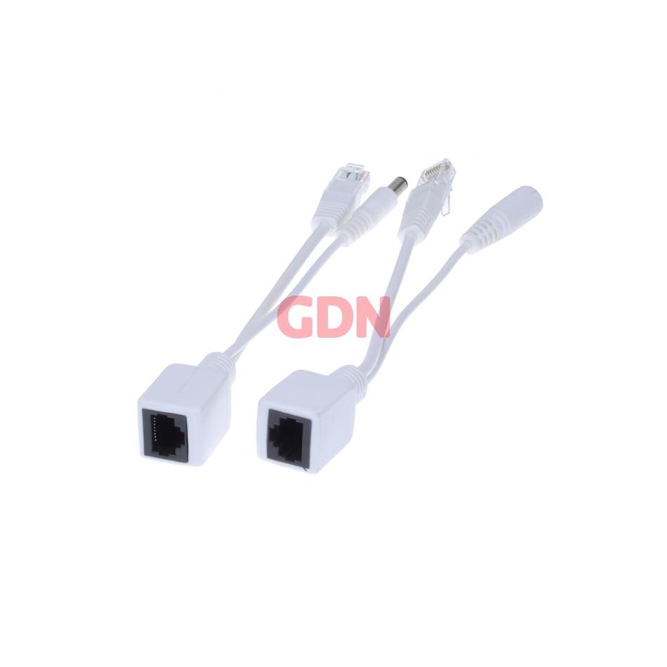Gadinan 10 pces (5pairs) poe adaptador switch cabo screened poe divisor injector fonte de alimentação 12-48v sintetizador separador