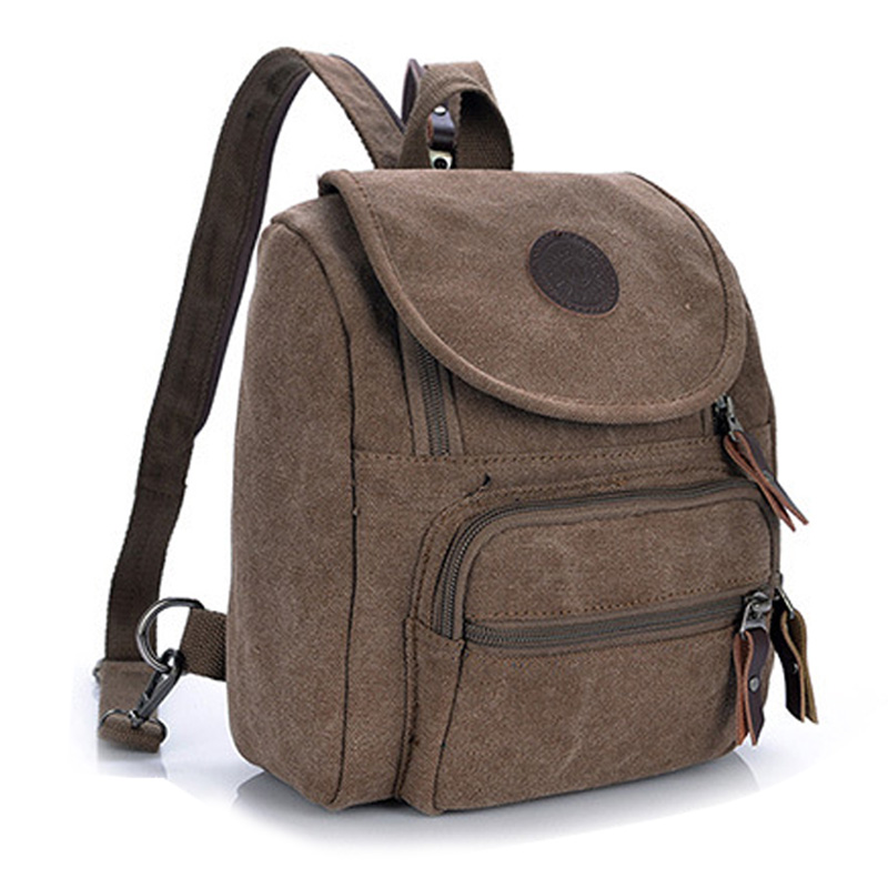 Doprava zdarma Casual Canvas Women Bag Dámský batoh SchoolBag Malá taška Female Shoulder Bag for Teenage Girls Student Backpacks