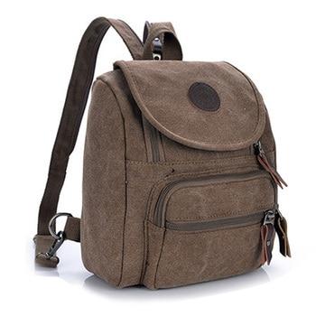 2017 retro canvas school bag versatile casual shoulder bags for men zipper backpack free shipping Free Shipping Casual Canvas Women Bag Women Backpack SchoolBag Small Bag Female Shoulder Bag for Teenage Girls Student Backpacks