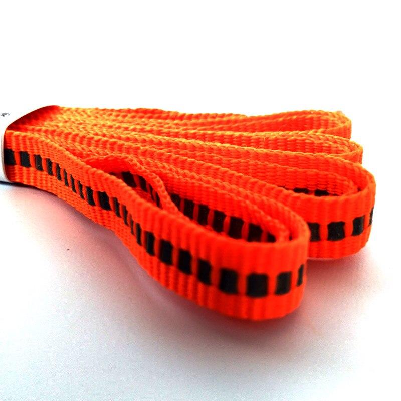 N 1-12 Paar Orange Unisex Flach Reflektierende Schnürsenkel Sicherheit Schnürsenkel Unsichtbare Schnürsenkel für Laufschuhe Sport Sneaker Basketball