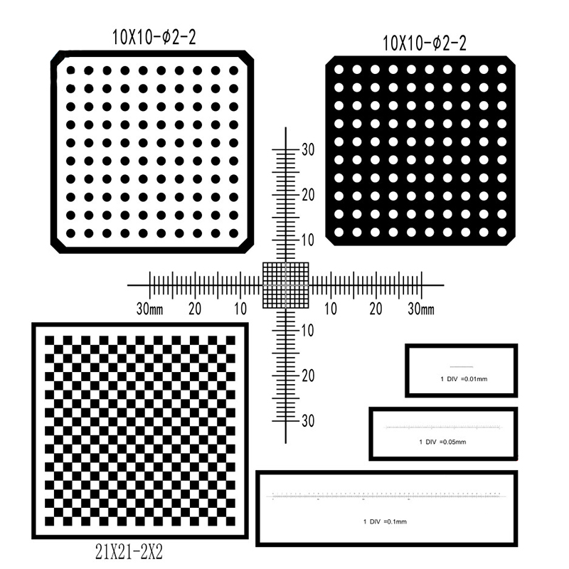 Machine Vision Calibration Target Chessboard Target Grid Calibration Target Dot Calibrat ...