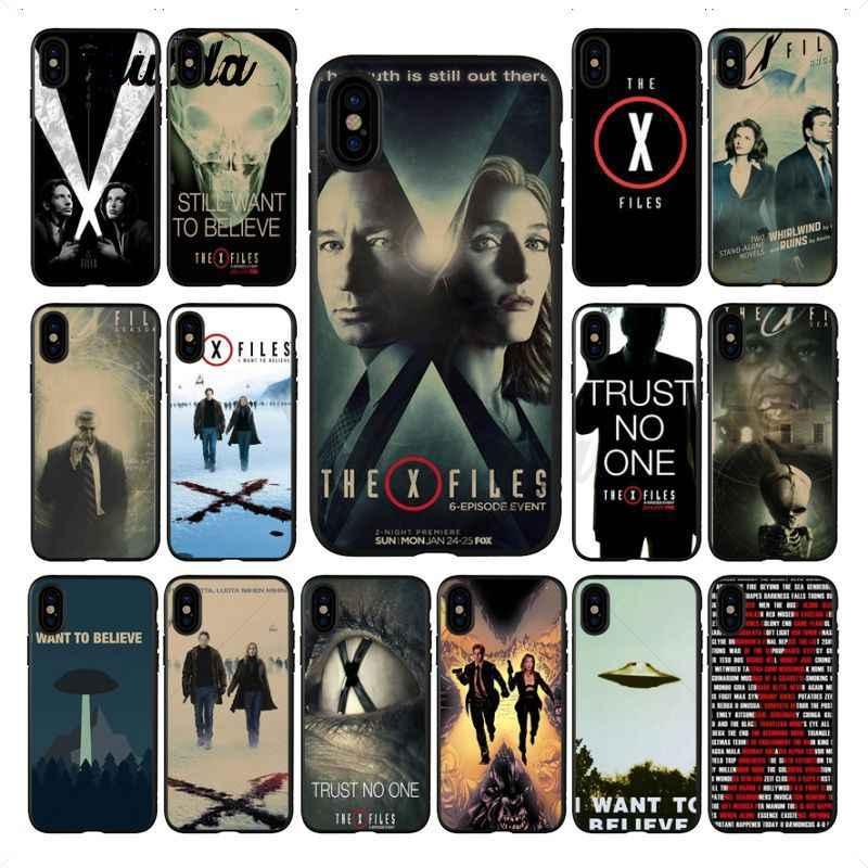 Yinuoda X - Files Alien UFO โปสเตอร์ retro Retro Kraft สีดำโทรศัพท์กรณีเปลือกนุ่มสำหรับ iPhone X 5 6 S 7 7 plus 8 8 Plus X XS MAX XR