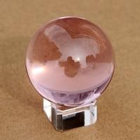 Venda quente 80mm Rosa De Cristal De Quartzo Bola Esfera Cura Cura Bola Elegante Casa Decoração De Mesa De Casamento