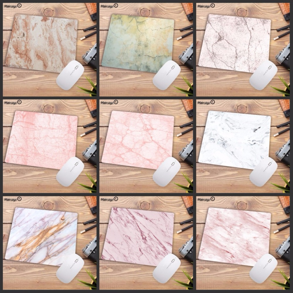 Mairuige Waterproof Northern Pink And White Marble Game Mouse Pad Small Mousepad Office Laptop Mat Big Promotion For Russia