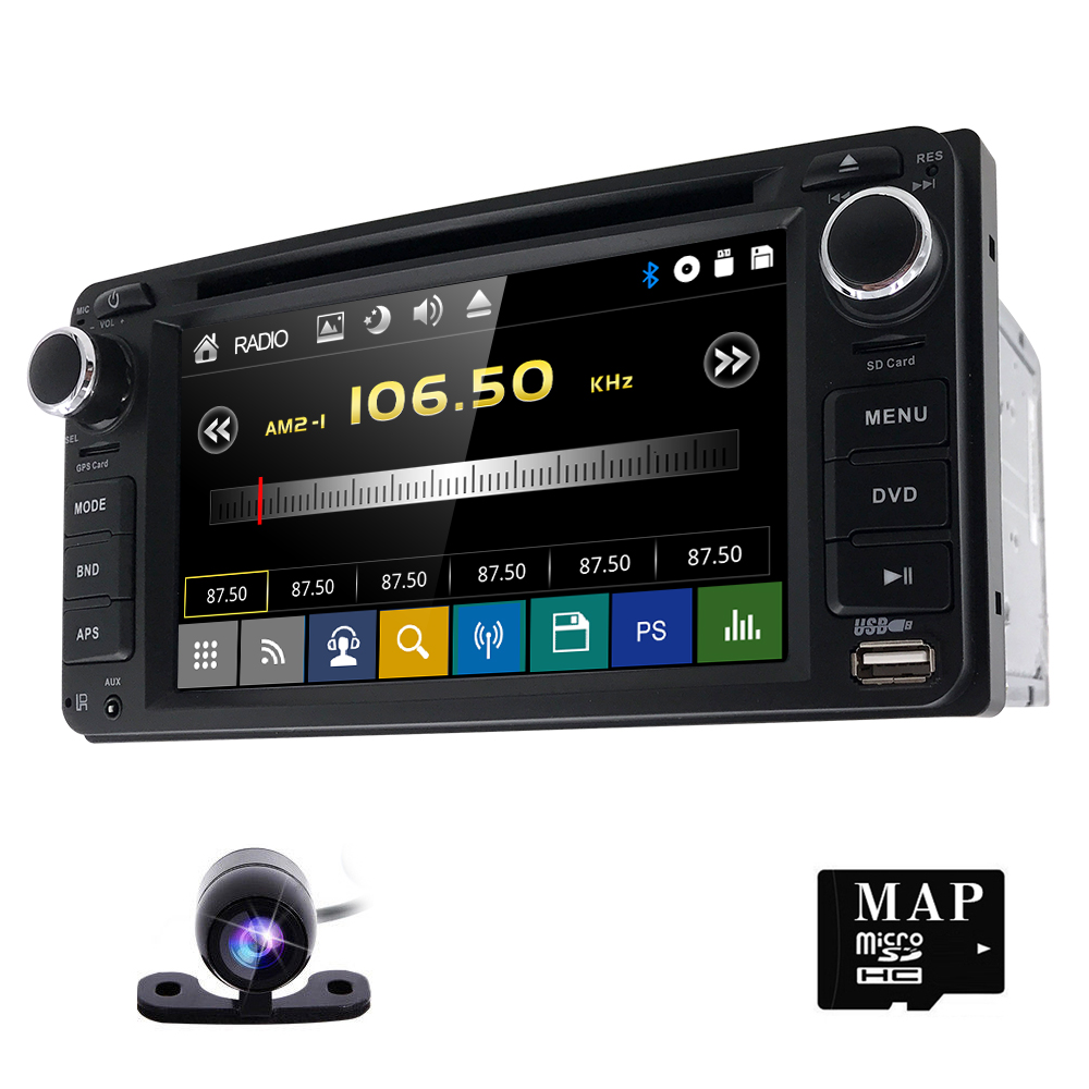 6 2 car dvd player auto radio for toyota universal rav4. Black Bedroom Furniture Sets. Home Design Ideas
