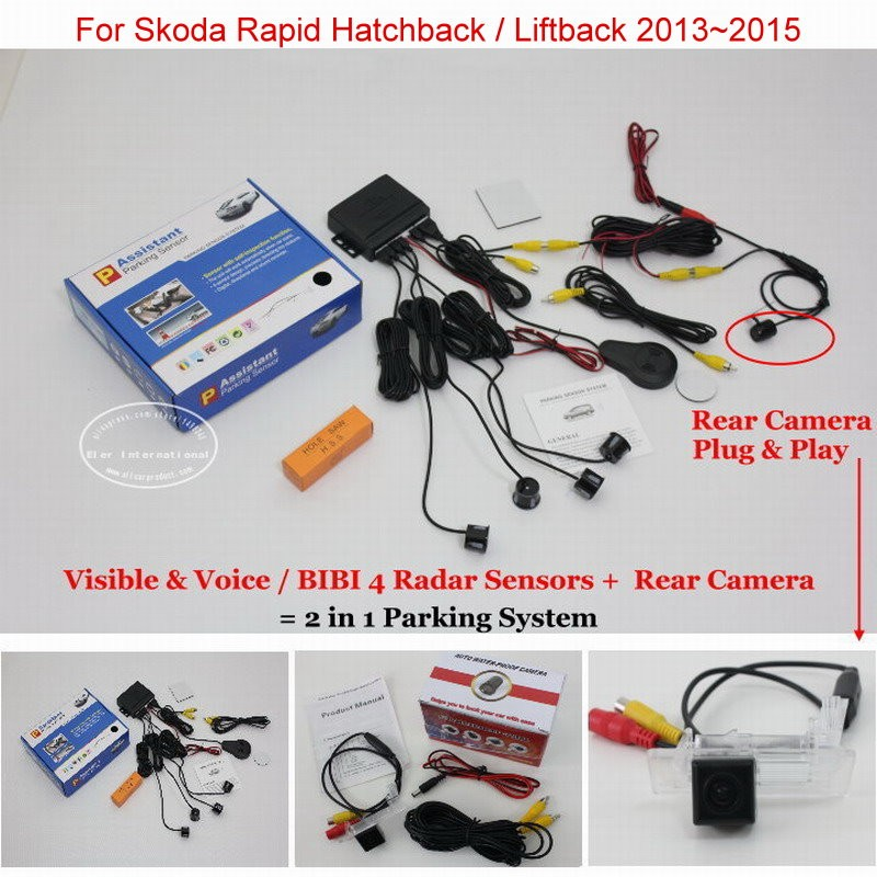 Skoda Rapid Hatchback Liftback 2013~2015 parking system