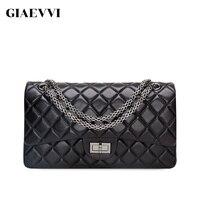 GIAEVVI women messenger bags 2018 brand genuine leather tote shoulder bag luxury handbag women crossbody bags designer handbags
