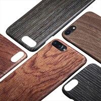 Showkoo Cool Naturel En Bois Coussin De Protection Pare-chocs Cas pour iPhone 7 Plus 7 Slip Caisse En Bois Pour iPhone 8 8 Plus le Cas en gros