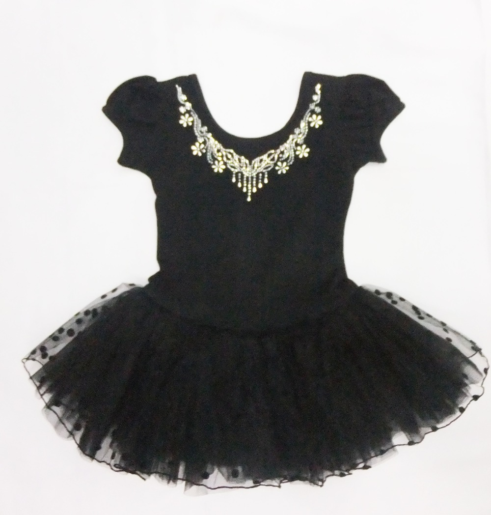 black Open button style Girl ballet skirt short sleeve&long-sleeve winter ballet skirt s ...