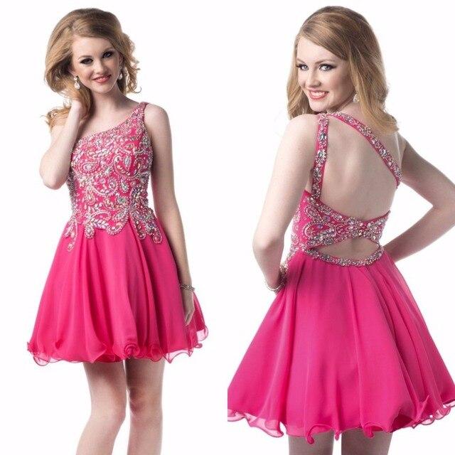 Entrega rápida caliente rosado del partido de danza vestido de gasa ...