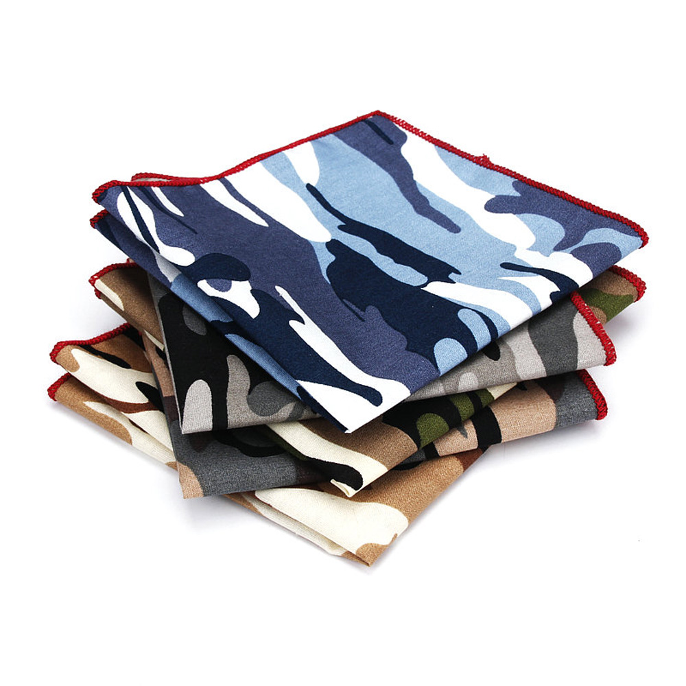 Mens Camouflage Printing Pocket Square Hanky Wedding High Grade Handkerchief YFTIE0240