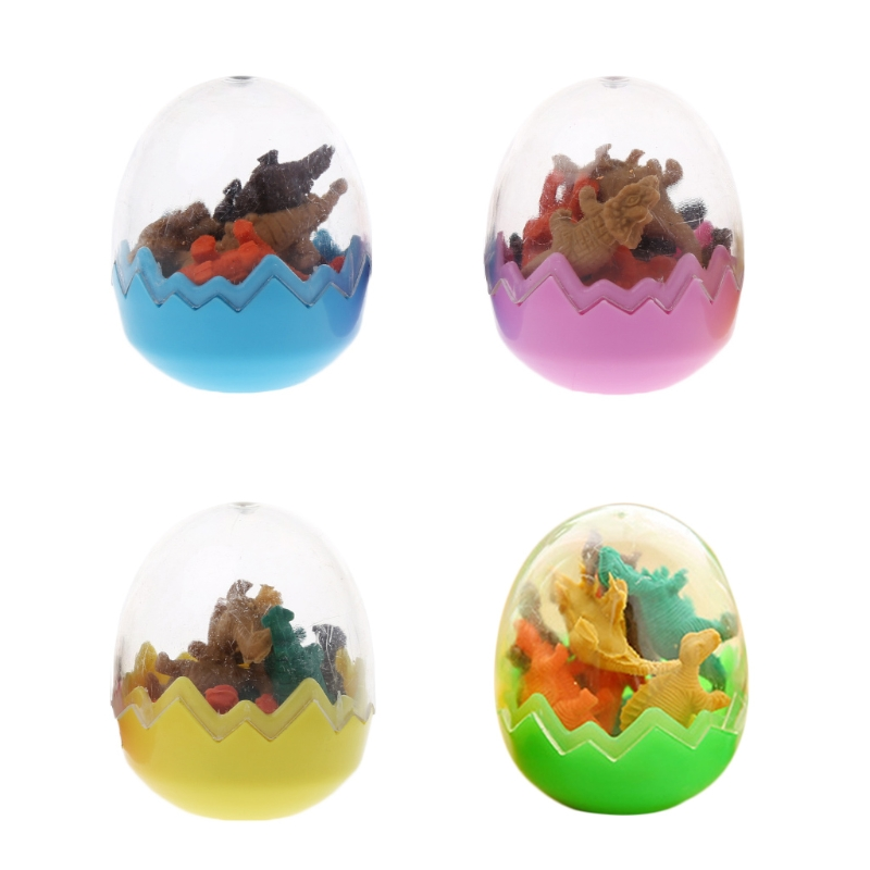 Creative Dinosaurs Egg Pencil Eraser For Kids Gift Stationery Students Office