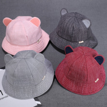 Yooap New soft cotton summer baby sun hat autumn fisherman newborn photography props