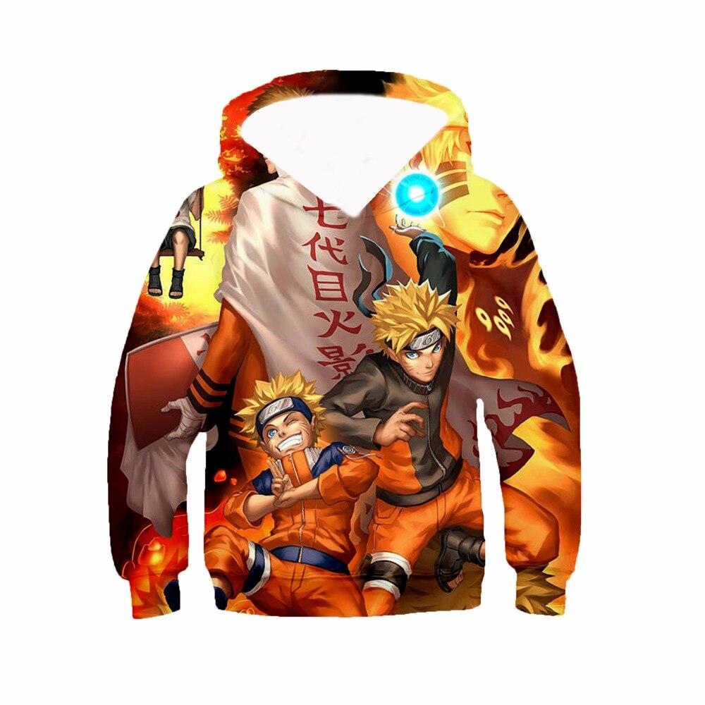 Naruto Kids 3D Hoodies japan anime hooded Dragon Ball z print Summer shirt Goku men unisex Sweatshirts pullover boys teens tops in Hoodies amp Sweatshirts from Men 39 s Clothing