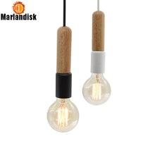 Простой креативный современный деревянный подвесной светильник подвесные светильники ручной работы для гостиной столовой спальни фойе ресторана(DC-65