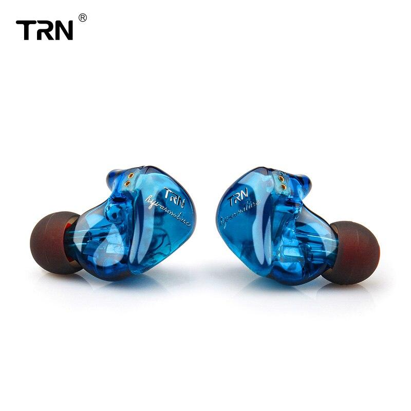 TRN IM1 1DD + 1BA Гибридный в ухо наушники Hi-Fi монитор DJ наушники для бега ушной гарнитуры с 2PIN Съемная TRN V20/V60