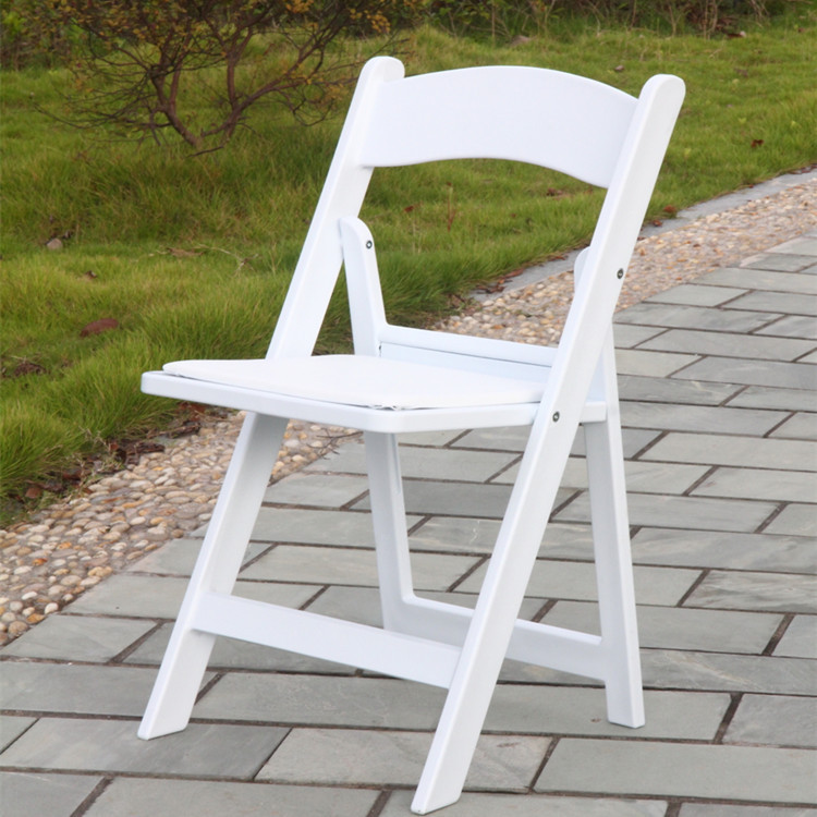 Export black and white resin chairs wood folding chair