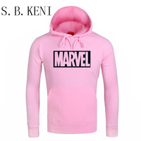 Newest Marvel Printed Hoodies Hip Hop Casual MARVEL Sweatshirt Thin MARVEL Printing Superman Series Coat COULHUNT