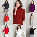 Plus Size Woolen Womens Sweaters Pullover Turtleneck Sweater Long Sleeve Shirts Women Tops Solid Shirt Cell 2016 Blusa Roupas XL