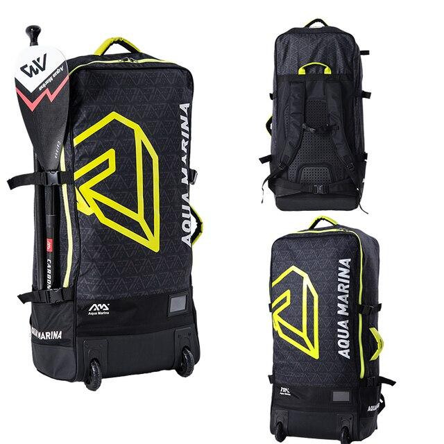 Aqua Marina 90*40*25 cm mochila de rueda de primera calidad bolso de hombro para SUP surf Board Out Door Storage bolsa de rodillo de gran capacidad