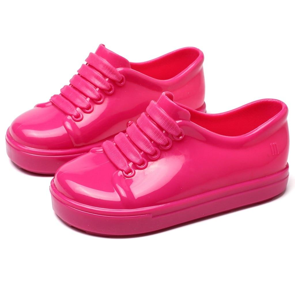 Mini Melissa No Shoelace Shoes 2018 Nowe zimowe płaskie sandały na - Obuwie dziecięce - Zdjęcie 4