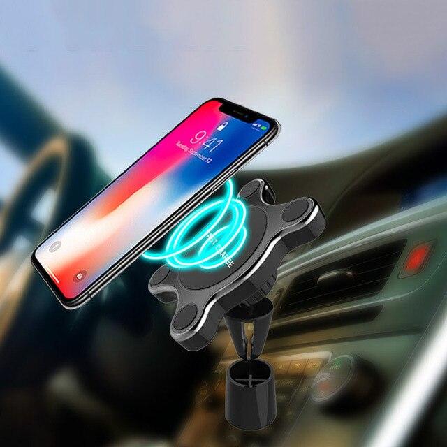 10W chargeur de voiture sans fil prise dair support pour téléphone pour iPhone XS Max Samsung S9 Xiaomi MIX 2S Huawei Mate 20 Pro 20 RS