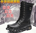 Warm boots for outdoor fishing in winter Black fishing shoes