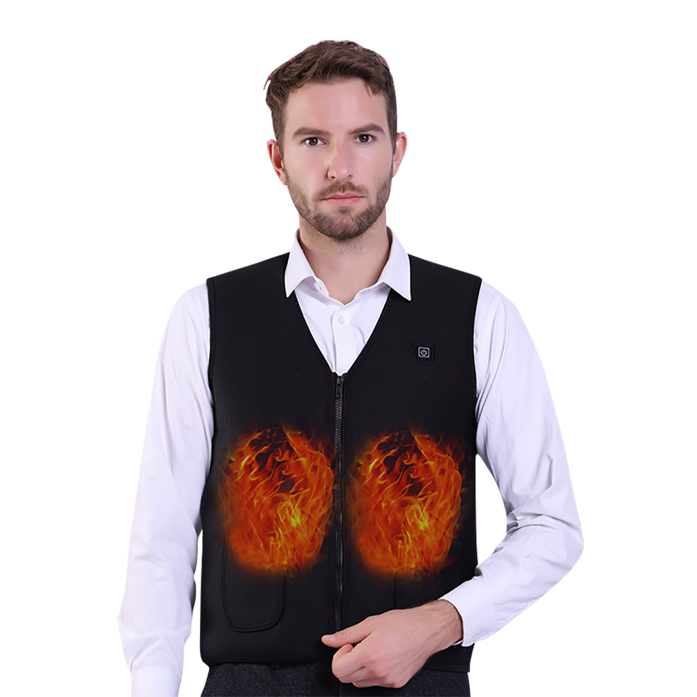 New Men Women Electric Heated Vest Heating Waistcoat USB Thermal Warm Cloth Feather Hot Sale Winter Jacket   tank     top   outdoor