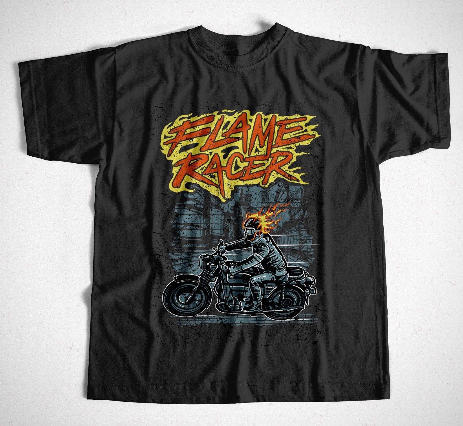 Flame Racer S 4Xl Biker Rocker Route 66 Hell Ghostrider Easy Rider