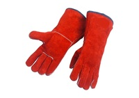 Cowhide Welding Gloves Welder S Cowhide High Temperature Resistance Wear Resistant Long Design Wear Resistant Work