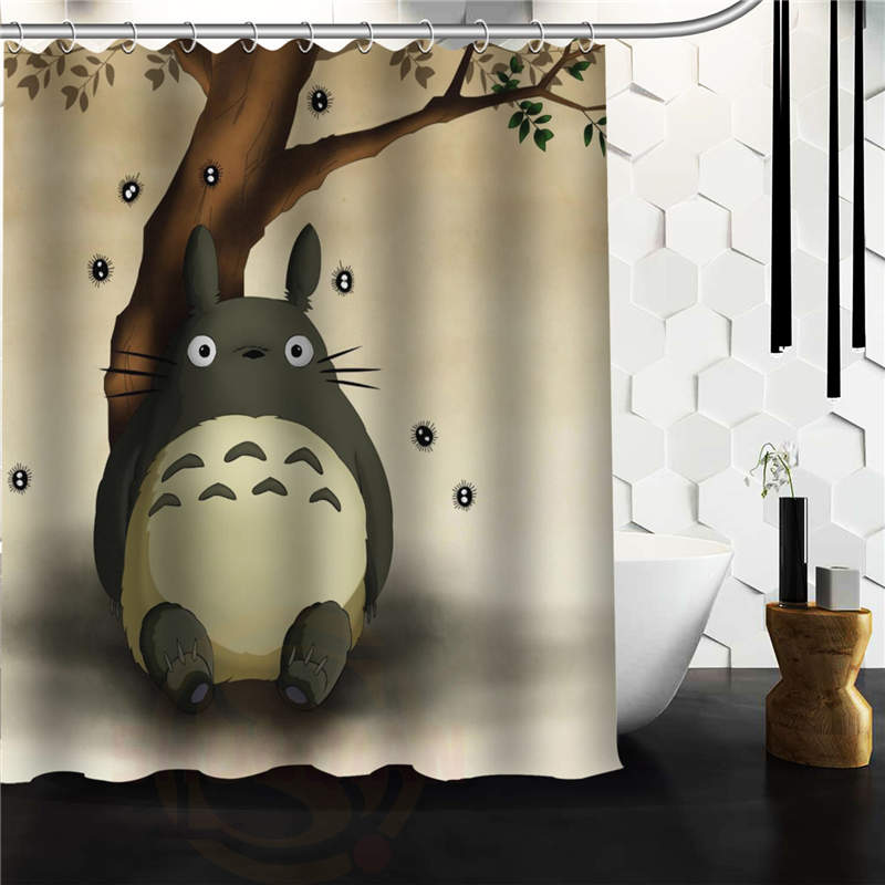 My Neighbor Totoro Custom Polyester Waterproof Shower Curtain 60x72 For Bathroom In Curtains From Home Garden On Aliexpress