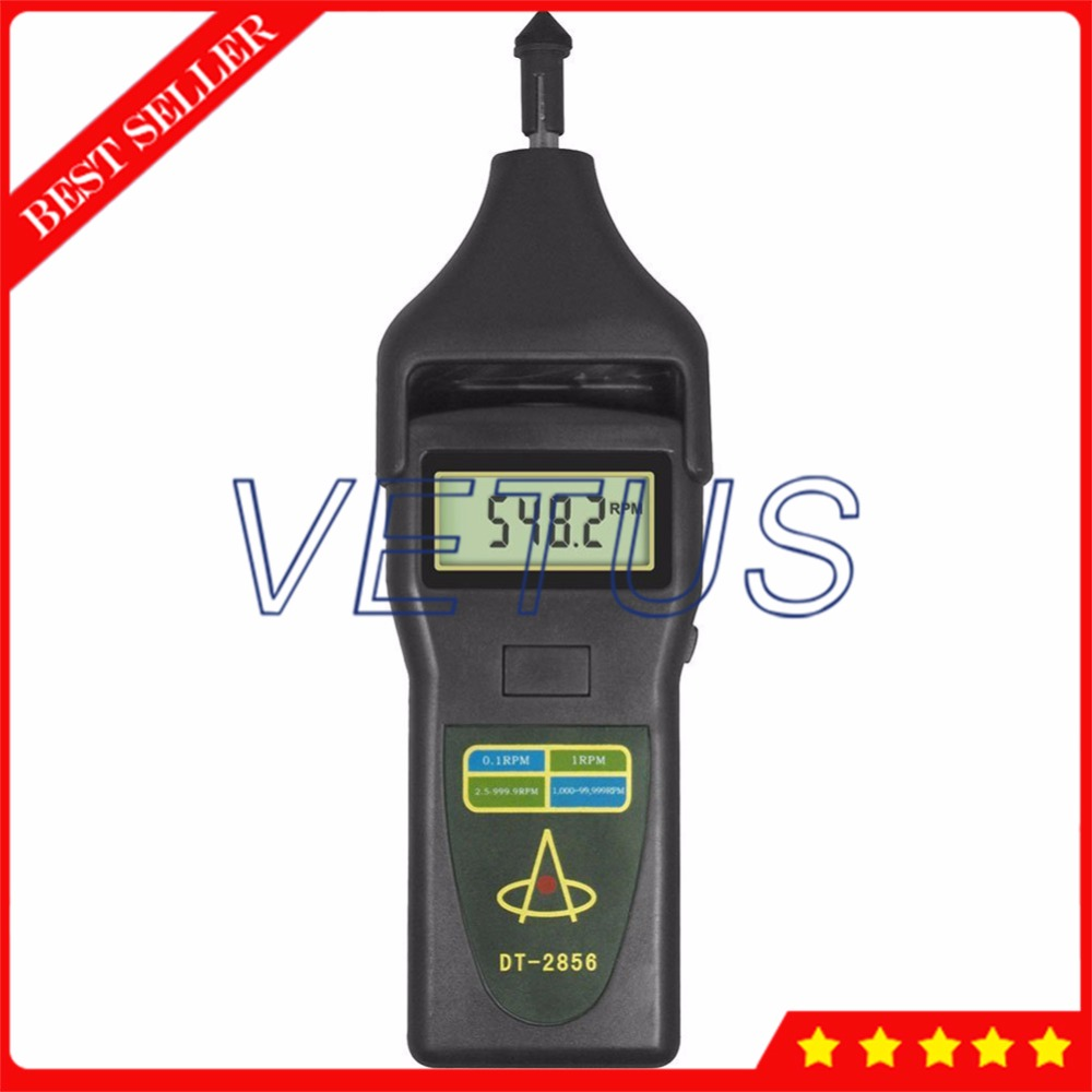 2 in 1 Portable Photo Contact Tach RPM Meter DT-2856 Digital Laser Tachometer DT2856 цена