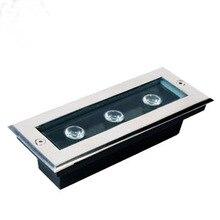 DHL Fedex 9W LED underground light AC85-265V rectangle IP68 Or DC12V 24V best factory price led spotlight