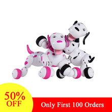 Christmas gift RC Dog 2.4G Wireless Remote Control Smart Dog Electronic Pet Educational Children's Toy Dancing Robot Dog(China)