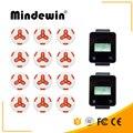 Mindewin горячая Распродажа  ресторан и кафе  магазин  беспроводная система вызова  1 2 шт.  белая кнопка вызова + 2 шт.  сенсорный пейджер часов