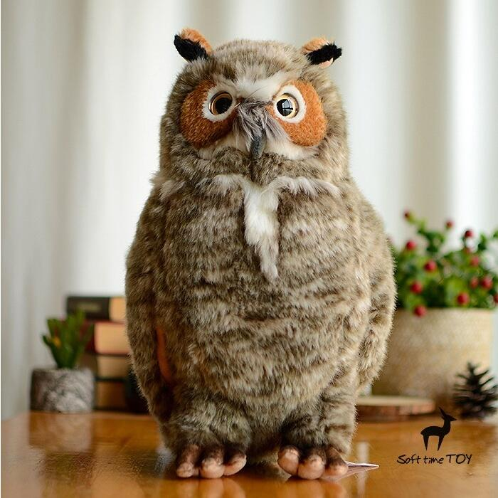 Big Toy Owl Doll Plush Toys Simulation Wildlife Christmas Valentine'S Day Gift Home Decoration