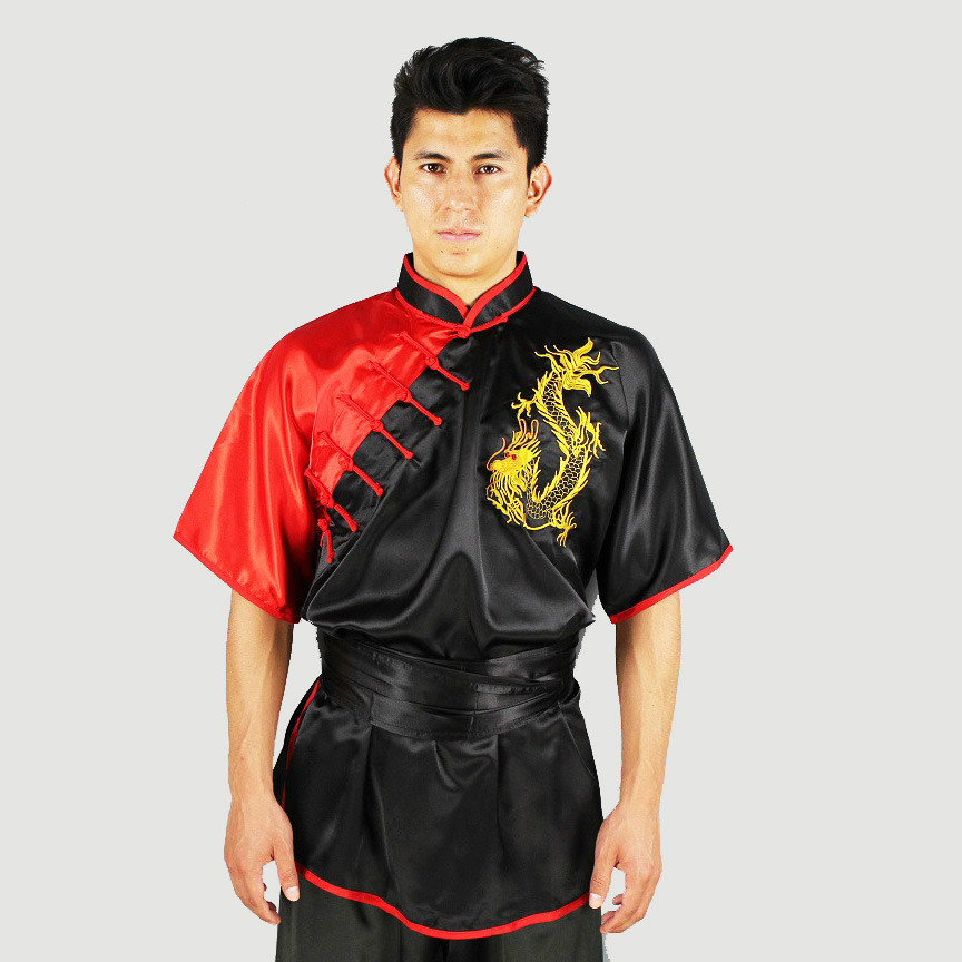 Tai Chi Martial Arts Clothing Suits Embroidered Dragon Chinese Clothes For Men Polyester Anti-Wrinkle Reflective Kung Fu Uniform