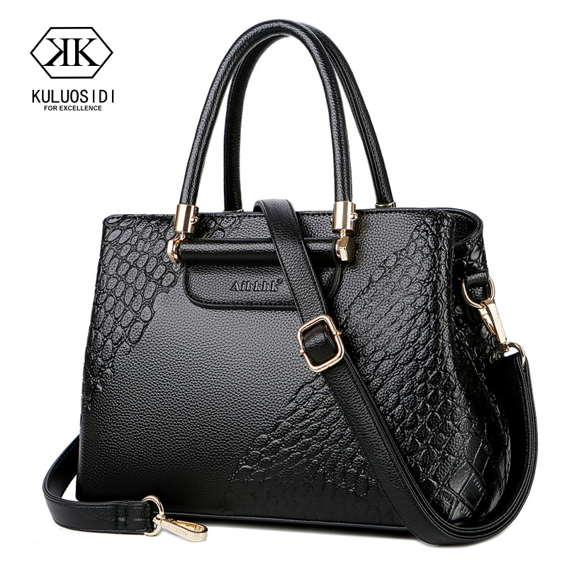 Serpentine Genuine Leather Bag for Women 2018 Leather Luxury Handbag Women Bag Designer Ladies Hand Bags Mother Gift Sac a Main