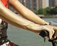 Free Shipping 5pairs Female Long Design Sunscreen Arm Sleeve Riding Sunscreen Anti Uv Female Thin Arm