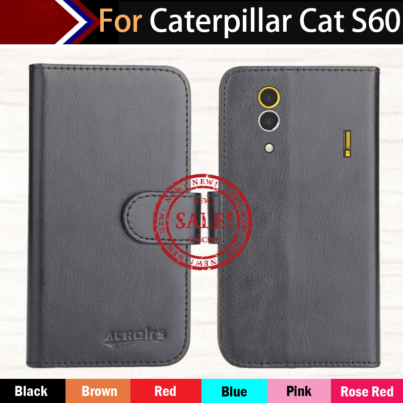 Hot!! In Stock For Caterpillar CAT S60 Case 6 Colors Ultra-thin Leather Exclusive For Caterpillar CAT S60 Phone Cover+Tracking